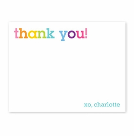 boatman geller rainbow thank you small flat notecard