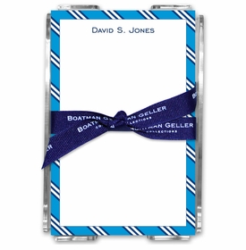 boatman geller repp tie blue & navy acrylic note sheets
