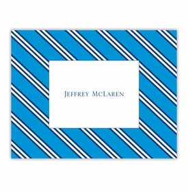 boatman geller repp tie blue & navy foldover note