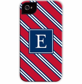 boatman geller repp tie red & navy cell phone case