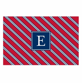 boatman geller repp tie red & navy disposable placemats