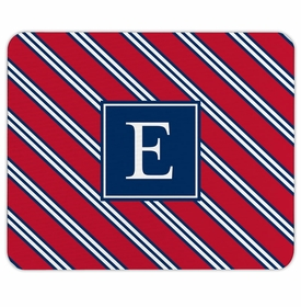 boatman geller repp tie red & navy mouse pad