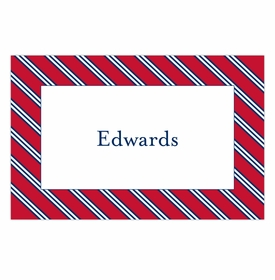 boatman geller repp tie red & navy placemat