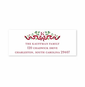 boatman geller ribbon holiday address labels