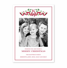 boatman geller ribbon holiday photocard