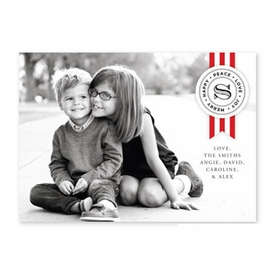 boatman geller ribbon large red photocard