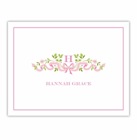 boatman geller ribbon pink foldover note