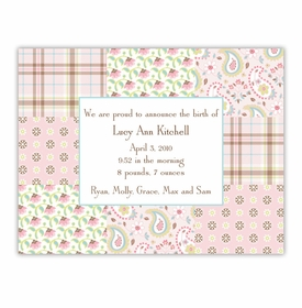 boatman geller riley patch pink small flat notecard