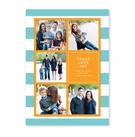boatman geller rugby collage aqua & orange photocard