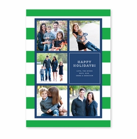 boatman geller rugby collage kelly green & navy photocard