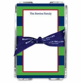 boatman geller rugby navy & kelly acrylic note sheets