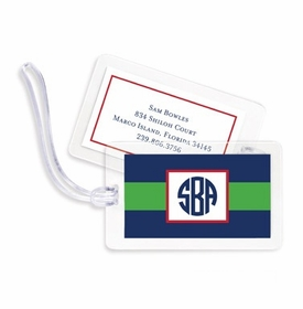 boatman geller rugby navy & kelly bag tags