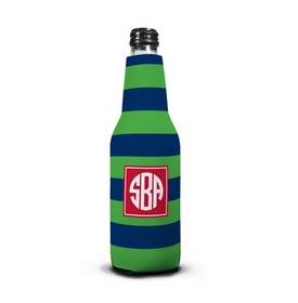 boatman geller rugby navy & kelly bottle koozie