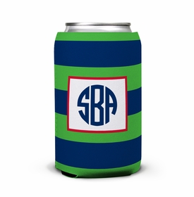 boatman geller rugby navy & kelly can koozie