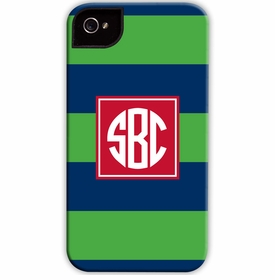 boatman geller rugby navy & kelly cell phone case