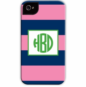 boatman geller rugby navy & pink cell phone case