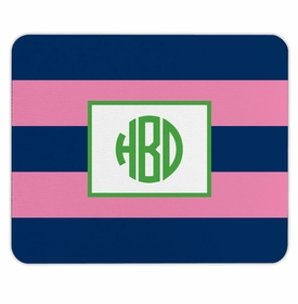 boatman geller rugby navy & pink mouse pad