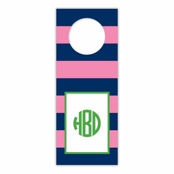 boatman geller rugby navy & pink wine tags