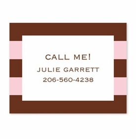 boatman geller rugby pink & brown calling card