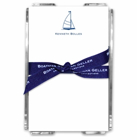 boatman geller sailboat classic acrylic note sheets
