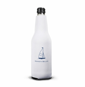 boatman geller sailboat classic bottle koozie