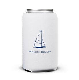 boatman geller sailboat classic can koozie