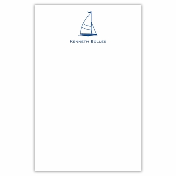 boatman geller sailboat classic notepad