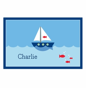 boatman geller sailboat disposable placemats