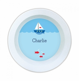 Sailboat Melamine Round Bowl