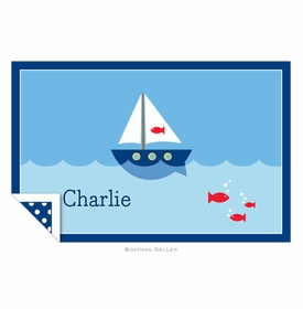 boatman geller sailboat placemat