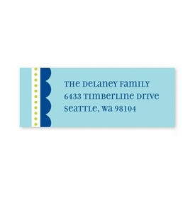 boatman geller scallop blue with navy address labels