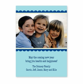 boatman geller scallop blue with navy photocard