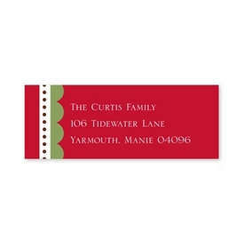 boatman geller scallop red address labels