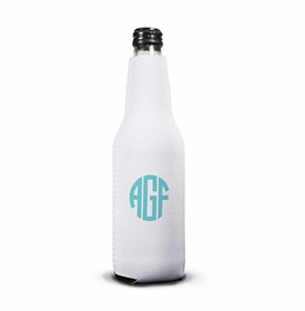 boatman geller script monogram bottle koozie