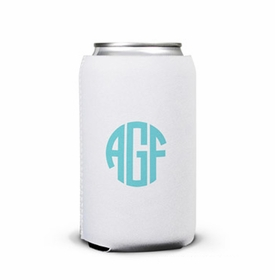 boatman geller script monogram can koozie