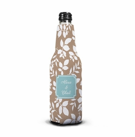 boatman geller silo leaves mocha bottle koozie