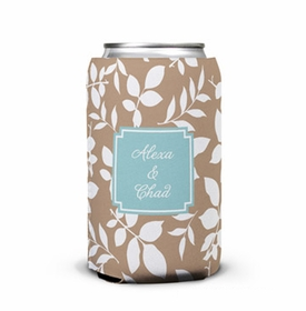 boatman geller silo leaves mocha can koozie