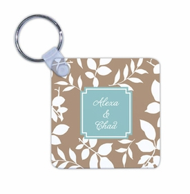 boatman geller silo leaves mocha key chain