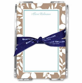 boatman geller silo leaves mocha note sheets in acrylic note sheets