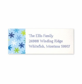 boatman geller snowflake light blue address labels