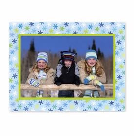 boatman geller snowflake light blue photocard