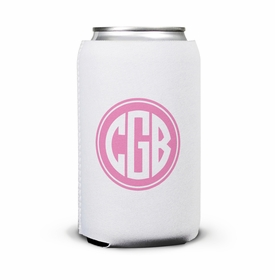 boatman geller solid inset circle can koozie