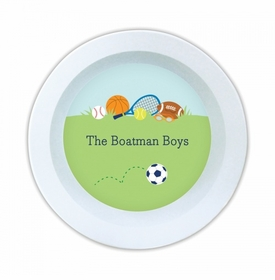 Sports Boy Melamine Round Bowl