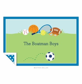 boatman geller sports boy placemat