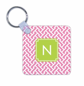 boatman geller stella pink key chain