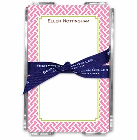 boatman geller stella pink note sheets in acrylic note sheets