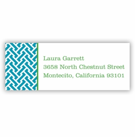 boatman geller stella turquoise address labels