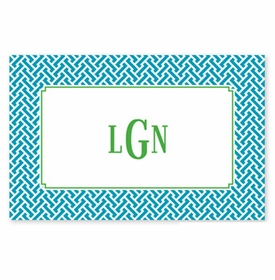 boatman geller stella turquoise disposable placemats