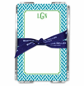 boatman geller stella turquoise note sheets in acrylic note sheets