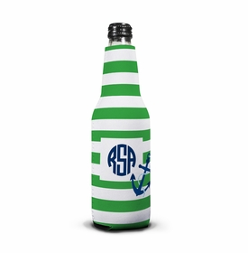 boatman geller stripe anchor bottle koozie